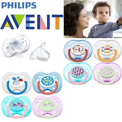 Philips Avent Orthodontic Fashion soothers 6-18m/0-6m  2 in pack bpa free