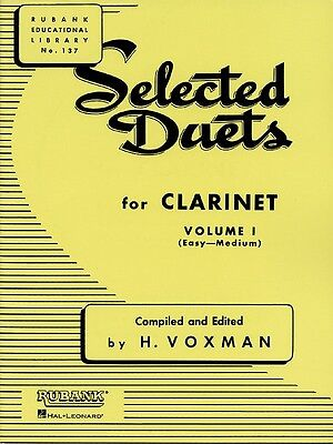Selected Duets for Clarinet - Volume 1 - Easy to Medium Music Book