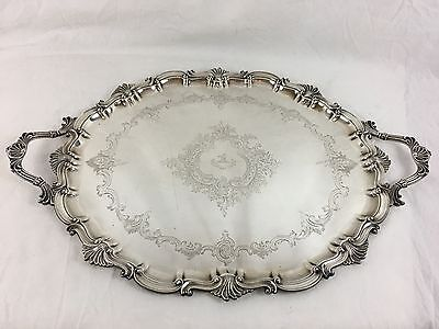 Large Sterling Silver Serving Tray, Thomas Bradbury & Sons 1903, English, London