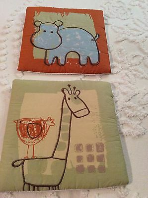 """Summersault Crib Bedding Collection Wall Hanging (100% Cotton, 11"""" X 11"""")"""