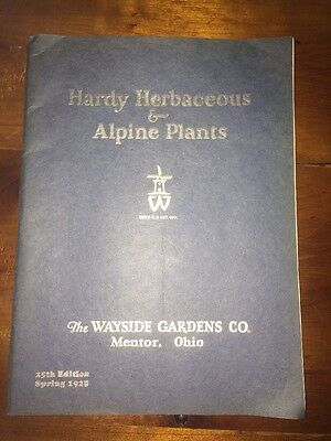 1928 Spring Wayside Gardens Co., Hardy Herbaceous and Alpine Plants Catalog
