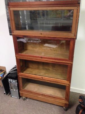 Antique Barrister Bookcase Four Drawer