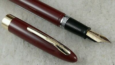 Restored Burgundy Sheaffer Snorkel Admiral Fountain Pen
