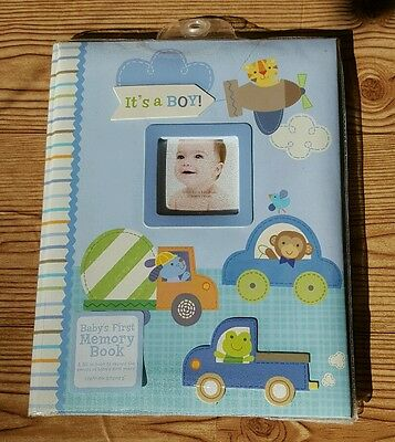 """CR Gibson Stepping Stones """"It's A Boy"""" Baby's First Memory Book"""