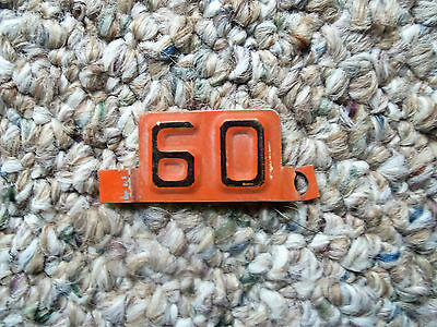 1960  Wisconsin  license plate tab
