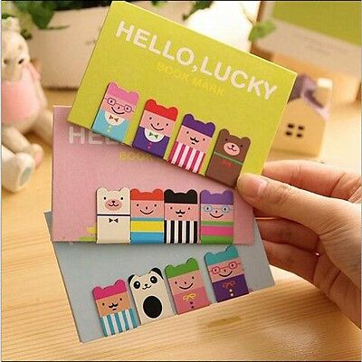 Stationery Funny Gift Novelty 4Pcs Bookmarks Book Mark Note Pad