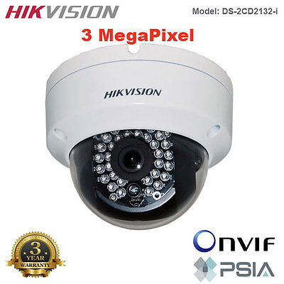 HIKVISION 3MP Full HD 1080p Outdoor WDR IR Night Vision IP Dome Camera/PoE
