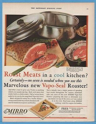 1929 Aluminum Goods Manufacturing Co Manitowoc WI Mirro Vapo-Seal Roaster Ad