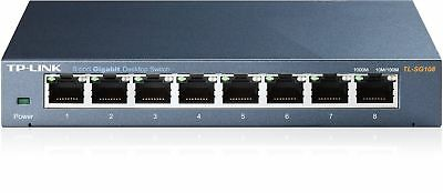TP-LINK TL-SG108 8 Port Metal Gigabit Ethernet Switch Desktop Network Hub