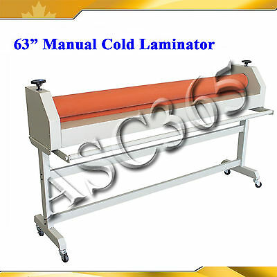 "63"" Length Format Cold Laminator With Two Large Soft Rubber Roll Manual Style"