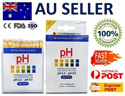 Accurate pH Test Strips for body level Urine & Saliva 100 Strips Alkaline Health