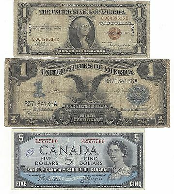 3   ANTIQUE  currency  total over $200. value  @- 50 % SELL