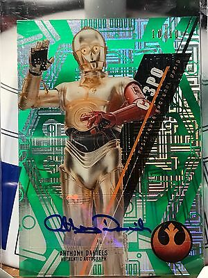 Star Wars Topps High Tek Autograph Card ANTHONY DANIELS AS C-3PO 10/10