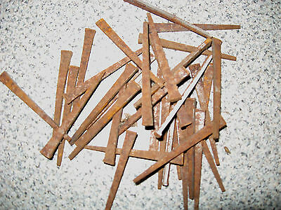 Lot Of 5 Dozen (60 Antique Vintage Hardware Square Cut Steel Nails Free Shipping