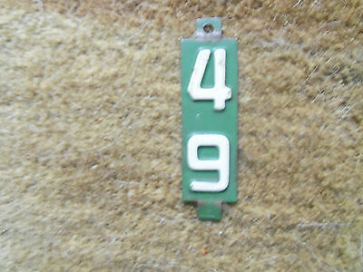 1949  Wisconsin   License Plate Renewal Tag