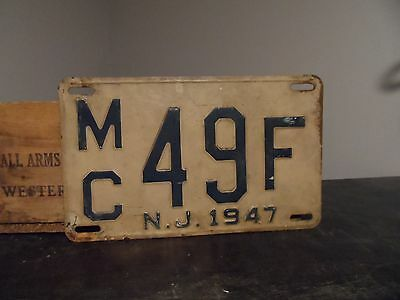 1947 New Jersey  License plate Mc 49F