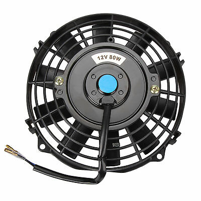 """7"""" 7 Inch 12 V Electric Cooling Fan Push & Pull For Radiator Intercooler 80W NEW"""
