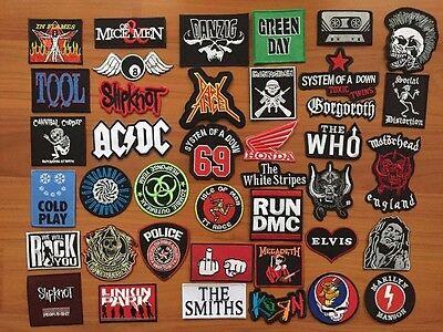 DIY Metal Rock Punk Retro Indy Music Bike Sew Iron On Embroidered Patch Applique