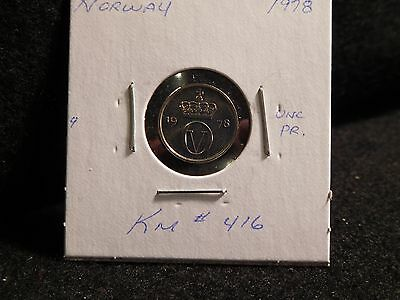 Norway:  1978  10 Ore  Coin     (Unc.)  (#3566)  Km# 416