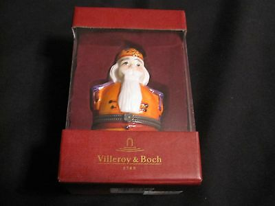 Villeroy & Boch Winter Christmas Ornament Santa Claus Hinged Container