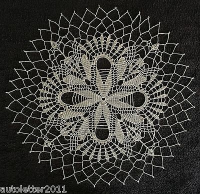 """New beigе-color hand crocheted doily the """"North Star"""""""