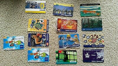 Old Telstra phone cards x 13