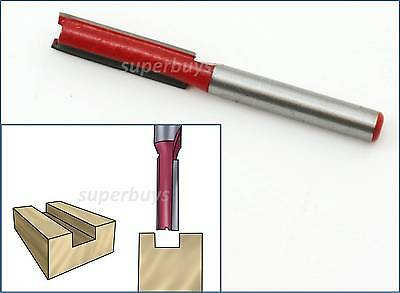 "1/4 x 5/16"" Straight Router Bit 6 x 8mm Wood Carving Cutter Woodworking Tool"