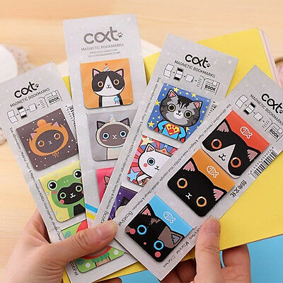 3pcs/Set Cartoon Cats Kitten Magnet Bookmark Stationery Souvenir Collection Kids