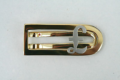Fine Solid 18Ct Gold 'sterling' Money Clip