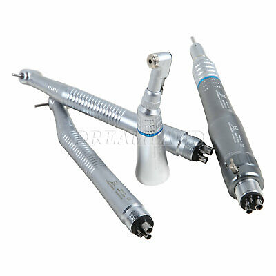 Dental Dentist NSK Style High Low Speed Handpiece Turbine Motor 4-Holes Kit UK