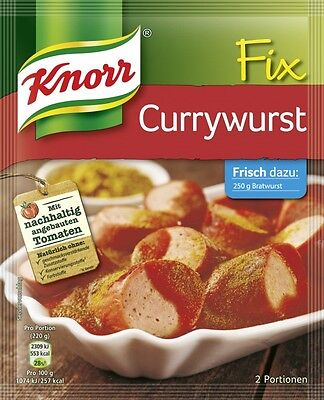 KNORR Fix Curry Sausage Sauce Mix for 6.8oz 200ml German Original Currywurst