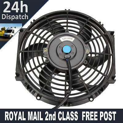 10inch Universal Electric Intercooler Radiator Cooling Fan Curved Blade 12V 80W