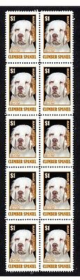 Clumber Spaniel Dog Strip Of 10 Mint Stamps #10
