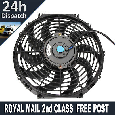 "12"" 12 Inch 80W Electric Radiator Intercooler 12V Slimline Cooling Fan New"