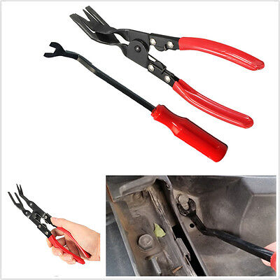 Professional 2in1 Auto Door Card Panel Trim Clip Removal Pry Tool Upholstery Kit