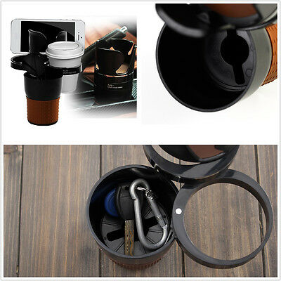 5In1 Portable Car Autos Center Console Storage Cup Mobile Phone Organizer Holder