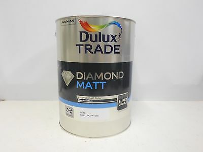 Dulux Trade Diamond Matt - Pure Brilliant White - 5L - Stain Resistant Paint