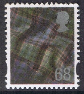 GB QEII MNH STAMP Scotland SG S119 68p Scottish Tartan  Regional Definitive