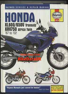 Honda Transalp Africa Twin (1987-2002) Haynes Shop Manual XL 600 650 V XRV 750