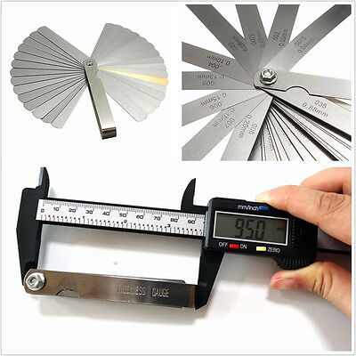Portable 32in1 Blades Feeler Gauge Vehicles Dual Reading Combination Meter Tool
