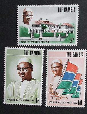 Gambia (1970) Independence / Flags / Republic Day - Mint (MNH)