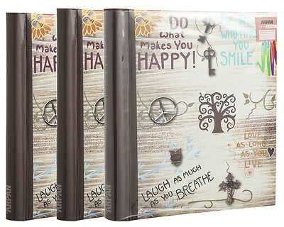 3 X Self Adhesive Large Photo Albums Totalling 60 Sheets 120 Sides Album Al-9565