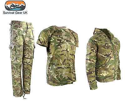Boys Army Outfit Camo Trousers T-Shirt Jacket Hoodie Soldier Dress Up Kids Btp