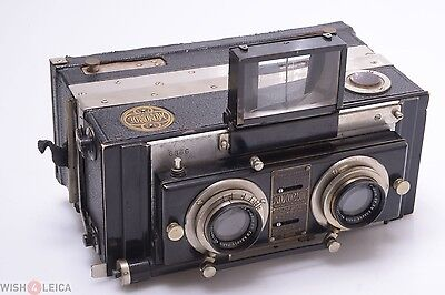 Jeanneret, Liebe Monobloc Panorama 120 Roll Film Back Stereo Camera Zeiss Tessar