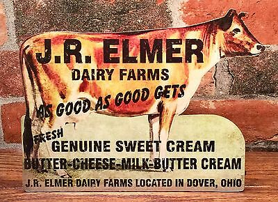 Butter ~ Cheese ~ Milk Vintage Dairy Farm Cow Advertising Sign Plaque