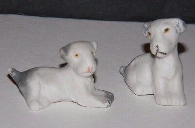 Vintage Lot of 2 Terriers Dogs Made in Germany Tiny