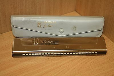 Hohner Echo harmonica Made In Germany With Case