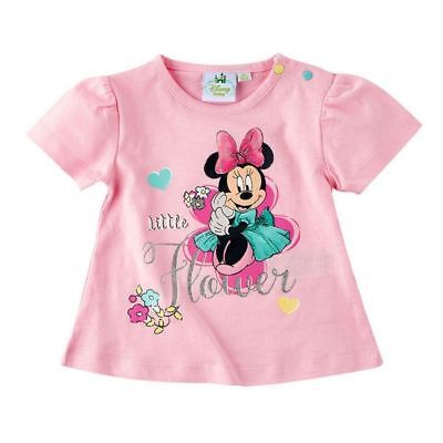 Disney Minnie Tshirt, rosa, Glitzereffekt, Gr. 62-92