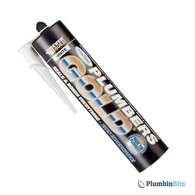 Everbuild Plumbers Gold Hybrid 300ml  Building Adhesive White Seals under water