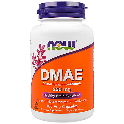 DMAE 250mg 100 Veg Caps by NOW Foods - Healthy Brain Function - AUS STOCK